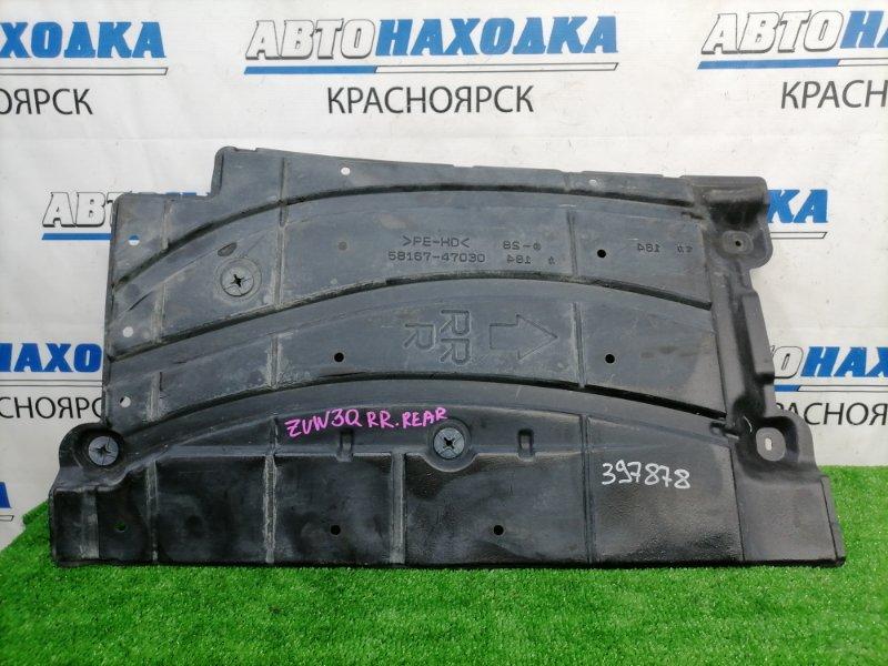 Защита Toyota Prius ZVW30 2ZR-FXE 2009 задняя правая защита днища, задняя правая