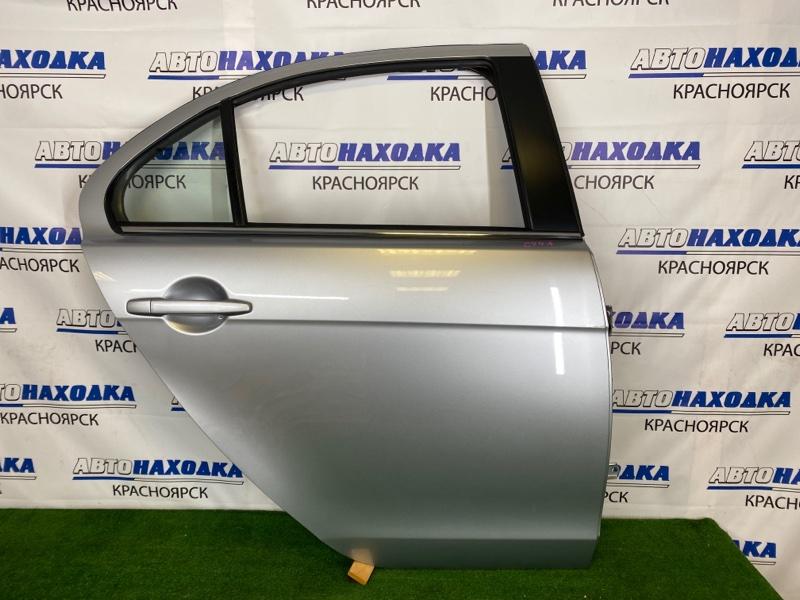 Дверь Mitsubishi Lancer CY4A 4B11 2007 задняя правая Задняя правая, серебристая (A31B), в сборе, есть