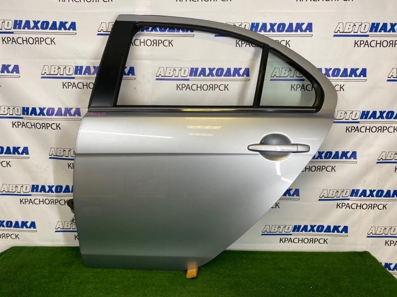 Дверь Mitsubishi Lancer CY4A 4B11 2007 задняя левая Задняя левая, серебристая (A31B), в сборе, есть