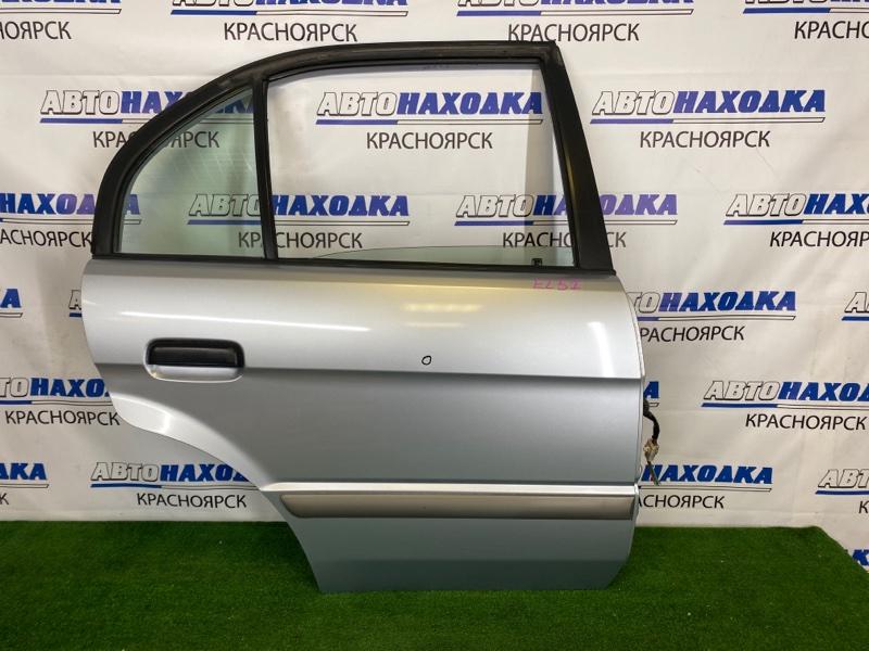 Дверь Toyota Corsa EL51 4E-FE 1997 задняя правая Задняя правая, серебристая (1A0), в сборе, есть