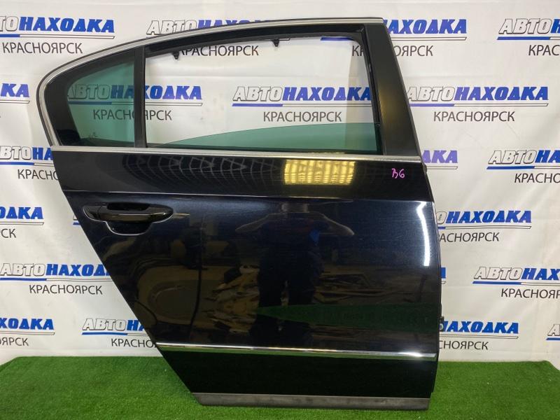 Дверь Volkswagen Passat B6 AXZ 2005 задняя правая Задняя правая, черная (2T / C9X), в сборе, седан, есть