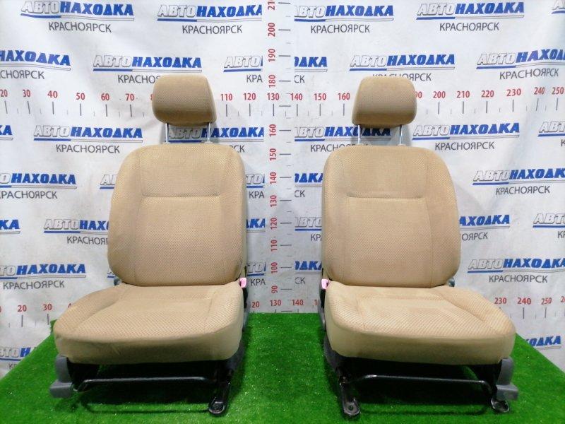 Сиденья Daihatsu Mira L275S KF-VE 2006 передняя Передние, пара, коричневые, ткань, код салона FK40,