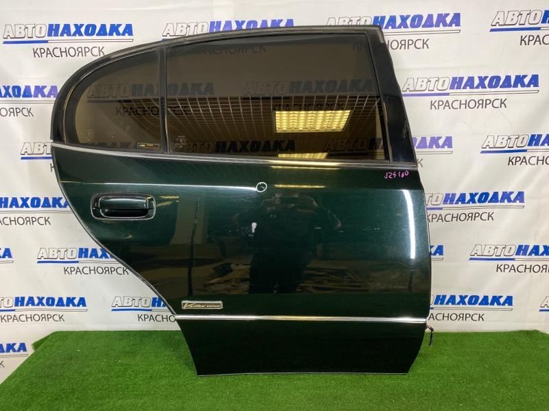 Дверь Toyota Aristo JZS160 2JZ-GE 2000 задняя правая Задняя правая, темно-зеленая (6S6), в сборе, есть