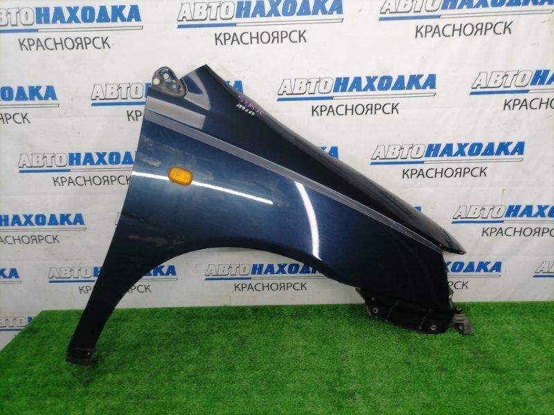 Крыло Toyota Gaia SXM10G 3S-FE 1998 переднее правое ХТС, переднее правое, синее (8L1), с повторителем,