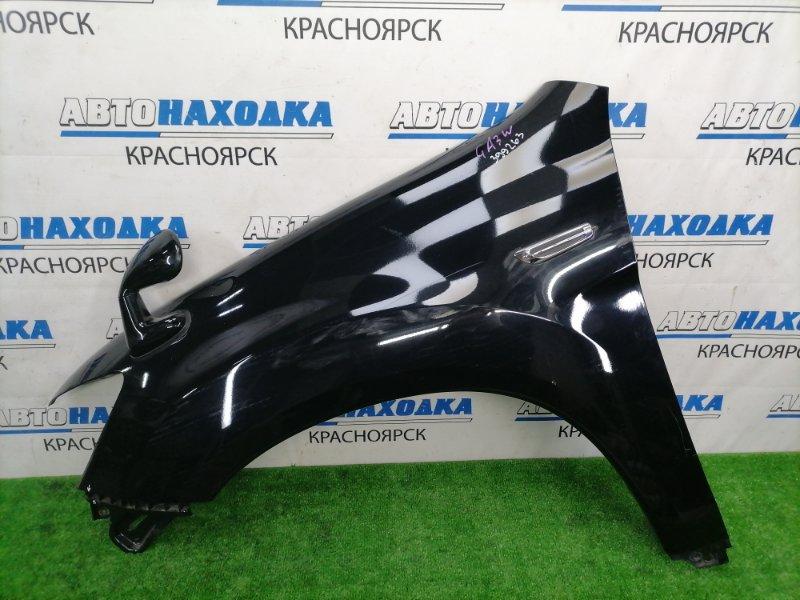 Крыло Mitsubishi Asx GA3W 4B10 2010 переднее левое переднее левое, пластиковое, черное (X42B), с