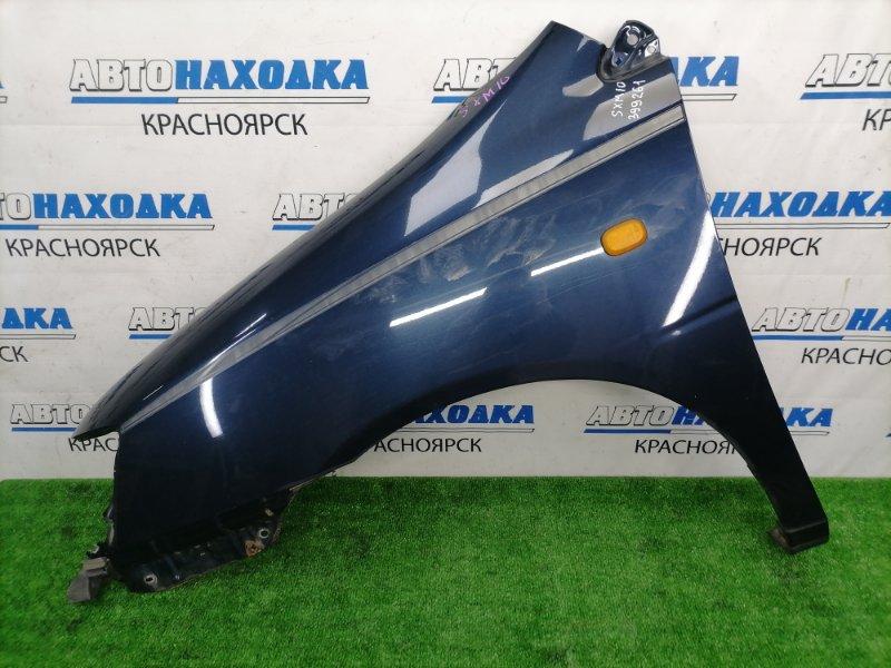 Крыло Toyota Gaia SXM10G 3S-FE 1998 переднее левое ХТС, переднее левое, синее (8L1), с повторителем,