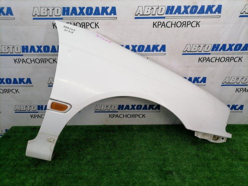 Крыло Toyota Caldina ST215G 3S-FE 2000 переднее правое переднее правое, белое (040), с повторителем, под