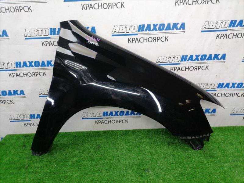 Крыло Mitsubishi Asx GA3W 4B10 2010 переднее правое переднее правое, пластиковое, черное (X42B),