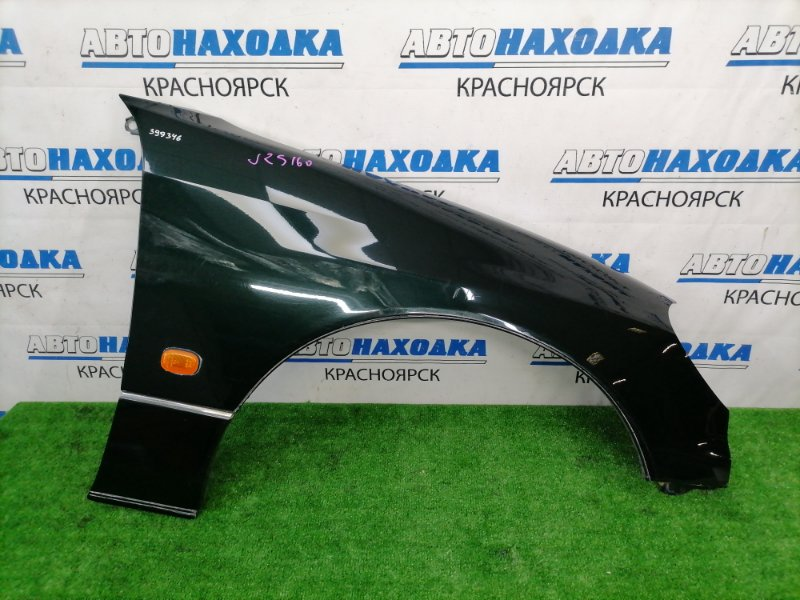 Крыло Toyota Aristo JZS160 2JZ-GE 2000 переднее правое переднее правое, темно-зеленое (6S6), с