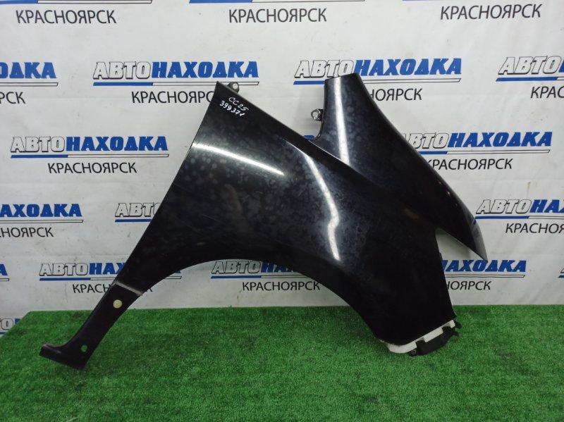 Крыло Nissan Serena CC25 MR20DE 2007 переднее правое переднее правое, черное (KH3), 2 модель ( по
