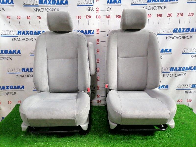 Сиденья Toyota Opa ZCT10 1ZZ-FE 2000 передняя Передние, пара, светло-серые, велюр, код салона FA18,