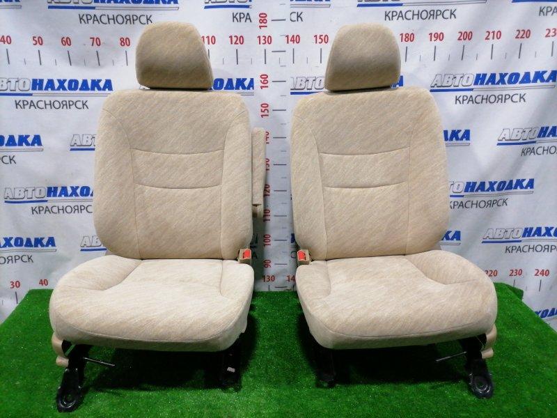 Сиденья Honda Fit Aria GD8 L15A 2002 передняя Передние, пара, светло-коричневые, ткань, код салона