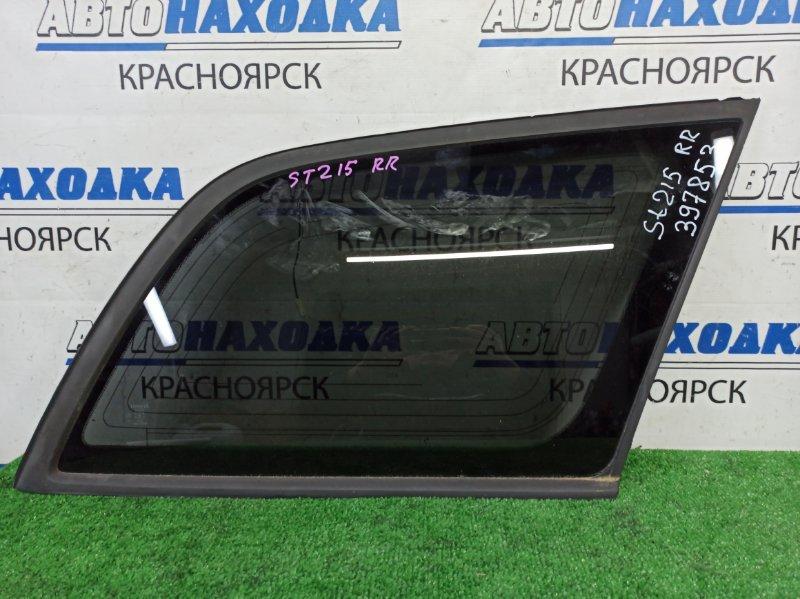 Стекло собачника Toyota Caldina ST215G 3S-FE 2000 заднее правое заднее правое, с молдингом