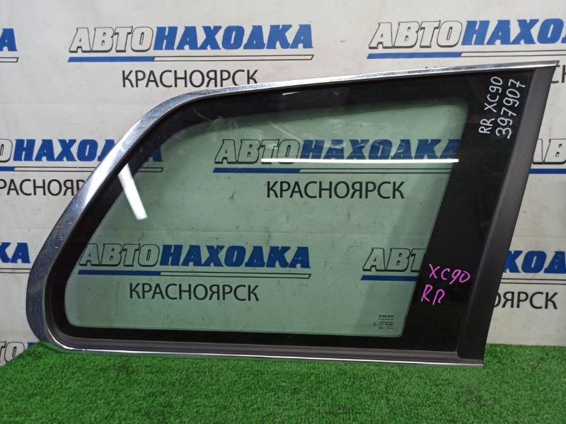 Стекло собачника Volvo Xc90 C_59 B5254T2 2002 заднее правое заднее правое, немного помутнел хром,