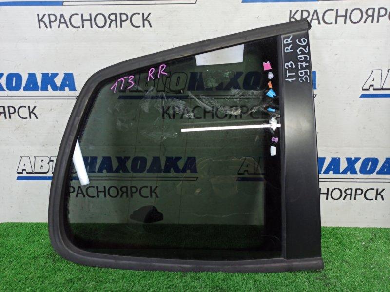 Стекло собачника Volkswagen Touran 1T3 CAVC 2010 заднее правое заднее правое, молдинг ОК