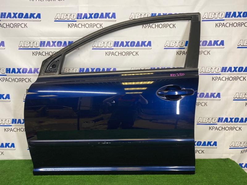 Дверь Toyota Avensis AZT250W 1AZ-FSE 2006 передняя левая Передняя левая, синяя (8S6), без стекла,