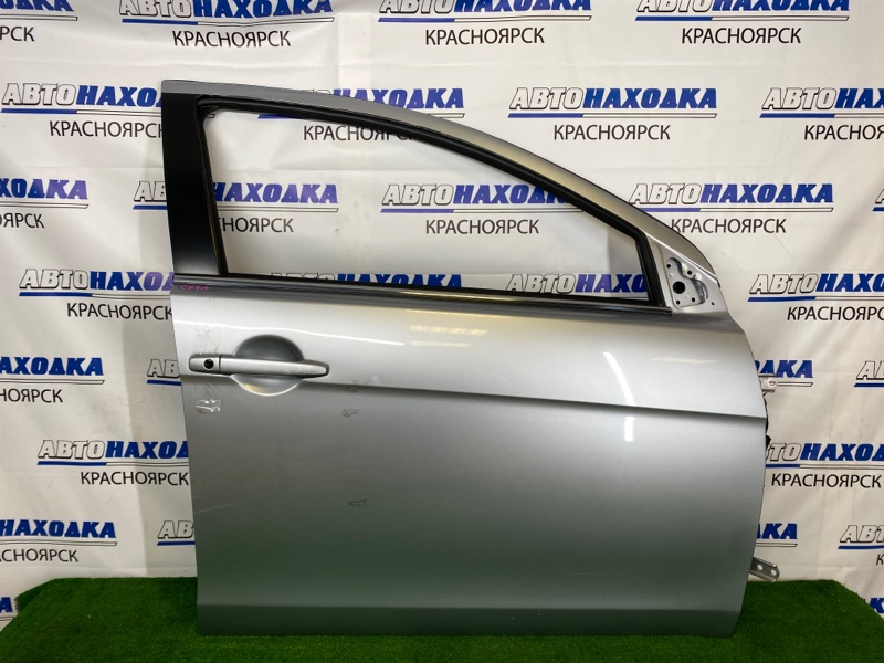 Дверь Mitsubishi Lancer CY4A 4B11 2007 передняя правая Передняя правая, серебристая (A31B), без личинки,