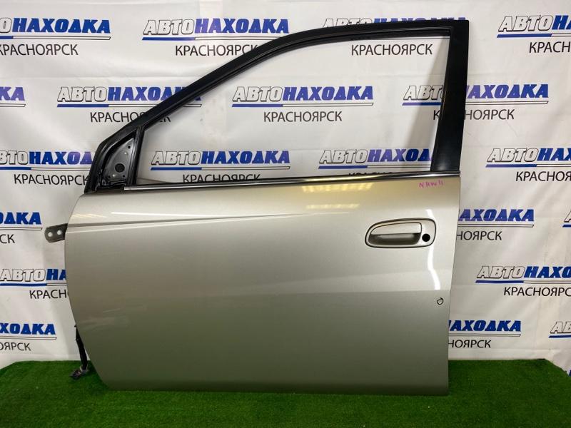 Дверь Toyota Prius NHW11 1NZ-FXE 2000 передняя левая Передняя левая, серая (1C5), без личинки, есть