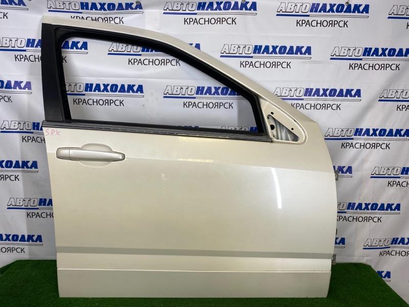 Дверь Cadillac Srx LH2 2003 передняя правая Передняя правая, белый перламутр, без стекла и
