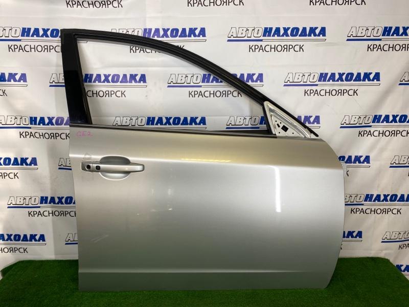 Дверь Subaru Impreza GE2 EL15 2007 передняя правая Передняя правая, серебристая (C3S), без личинки,