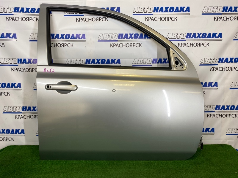 Дверь Nissan March AK12 CR12DE 2002 передняя правая Передняя правая, серебристая (KY0), 5-ти дверка,