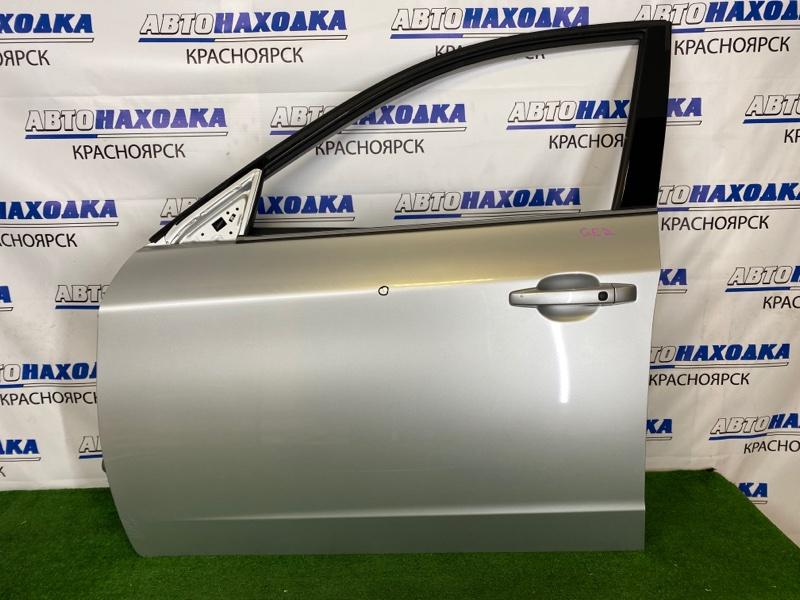 Дверь Subaru Impreza GE2 EL15 2007 передняя левая Передняя левая, серебристая (C3S), есть потертости,