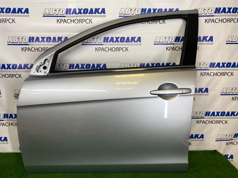 Дверь Mitsubishi Lancer CY4A 4B11 2007 передняя левая Передняя левая, серебристая (A31B), без стекла,