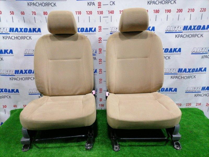 Сиденья Daihatsu Mira L275S KF-VE 2006 передняя Передние, пара, коричневые, ткань, код салона FJ40,
