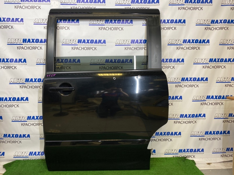 Дверь Nissan Serena CC25 MR20DE 2005 задняя левая Задняя левая, черная (KH3), в сборе, есть потертости,