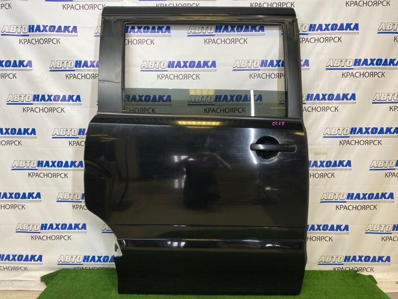 Дверь Nissan Serena CC25 MR20DE 2005 задняя правая Задняя правая, черная (KH3), в сборе, есть