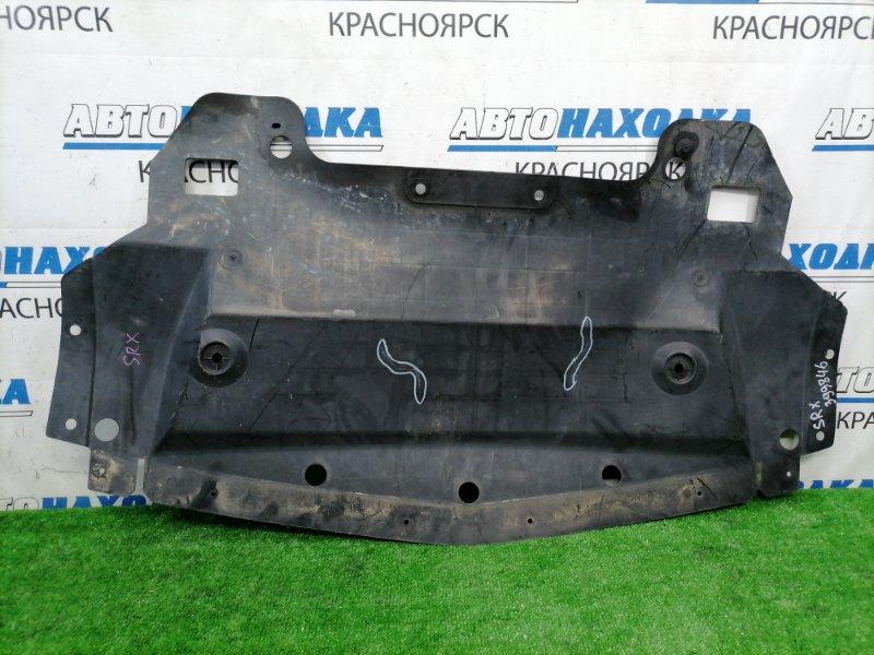 Защита двс Cadillac Srx LH2 2003 центральная, есть 2 трещинки (на фото)