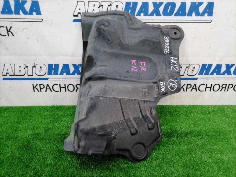 Защита двс Nissan March AK12 CR12DE 2002 передняя правая правая, боковая