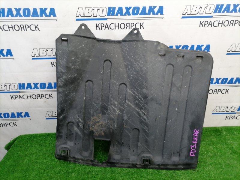 Защита Honda Civic FD3 LDA 2008 задняя днища, задняя