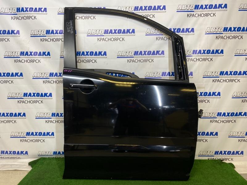 Дверь Nissan Serena CC25 MR20DE 2005 передняя правая Передняя правая, черная (KH3), без стекла,