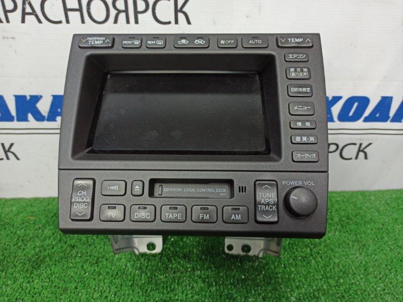 Климат-контроль Toyota Aristo JZS160 2JZ-GE 2000 штатный мультидисплей с магнитолой /