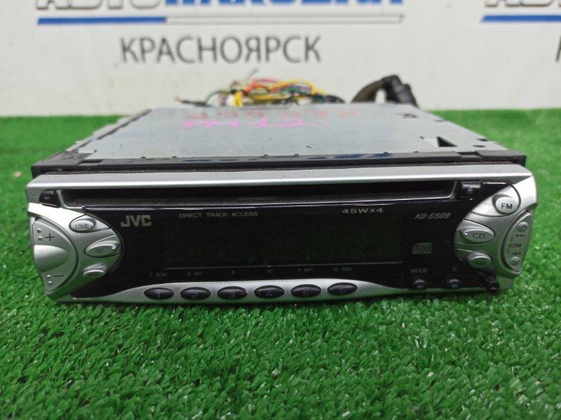 Магнитола Nissan Liberty PM12 SR20DE 1998 KD-S509 JVC KD-S509-S, 1DIN (178x50 мм), CD / AM / FM, съемная панель, с