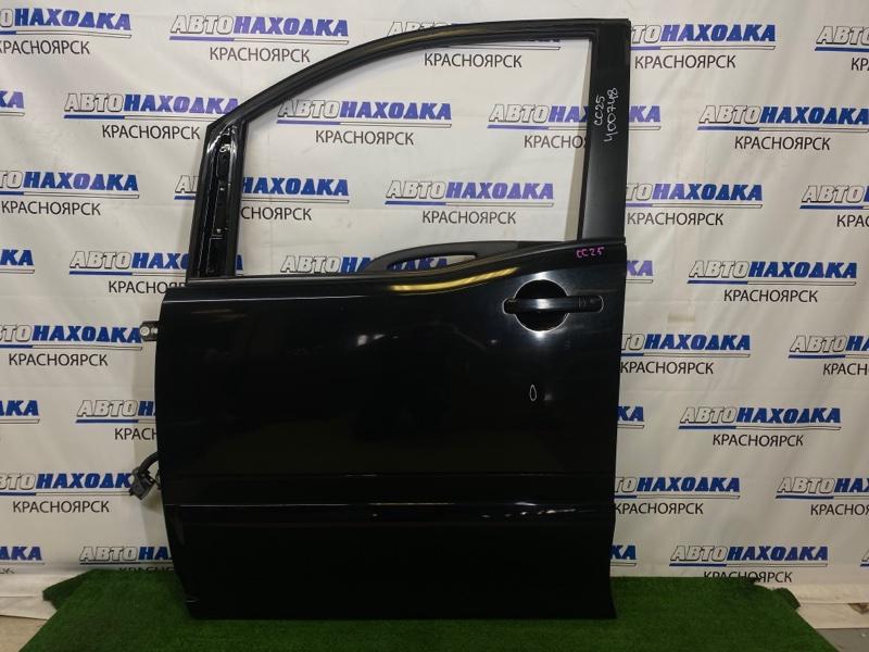 Дверь Nissan Serena CC25 MR20DE 2005 передняя левая Передняя левая, черная (KH3), без стекла, есть
