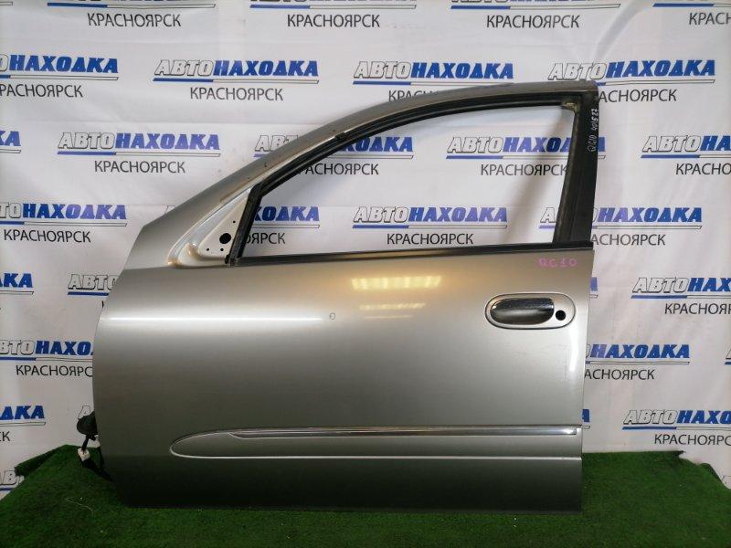 Дверь Nissan Bluebird Sylphy QG10 QG18DE 2000 передняя левая Передняя левая, серая (KX4), с молдингом 1-ой