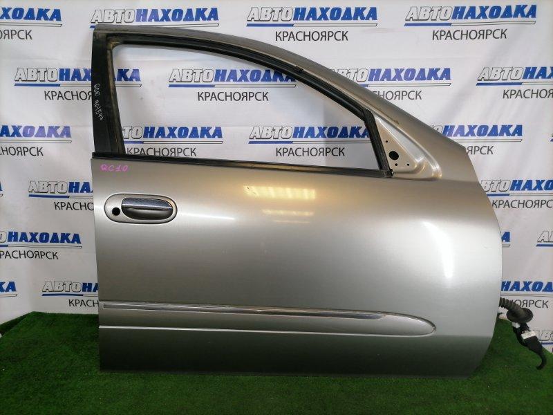 Дверь Nissan Bluebird Sylphy QG10 QG18DE 2000 передняя правая В целом ХТС, передняя правая, серая (KX4), с