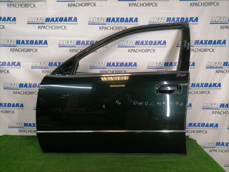 Дверь Toyota Aristo JZS160 2JZ-GE 2000 передняя левая Передняя левая, темно-зеленая (6S6), без стекла и