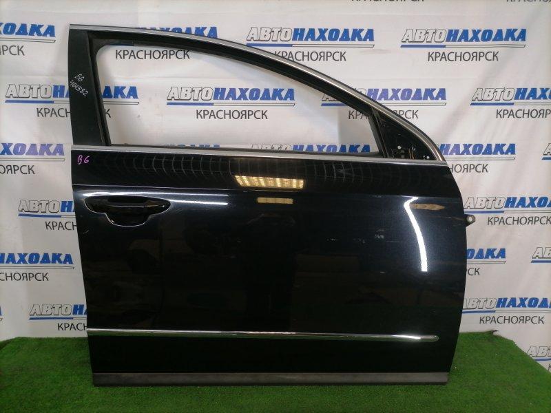 Дверь Volkswagen Passat B6 AXZ 2005 передняя правая В целом ХТС, передняя правая, черная (2T / C9X), с