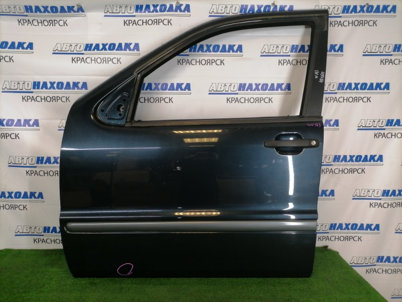 Дверь Mercedes-Benz Ml320 W163 M112 E32 1997 передняя левая Передняя левая, черная с синим оттенком (189),