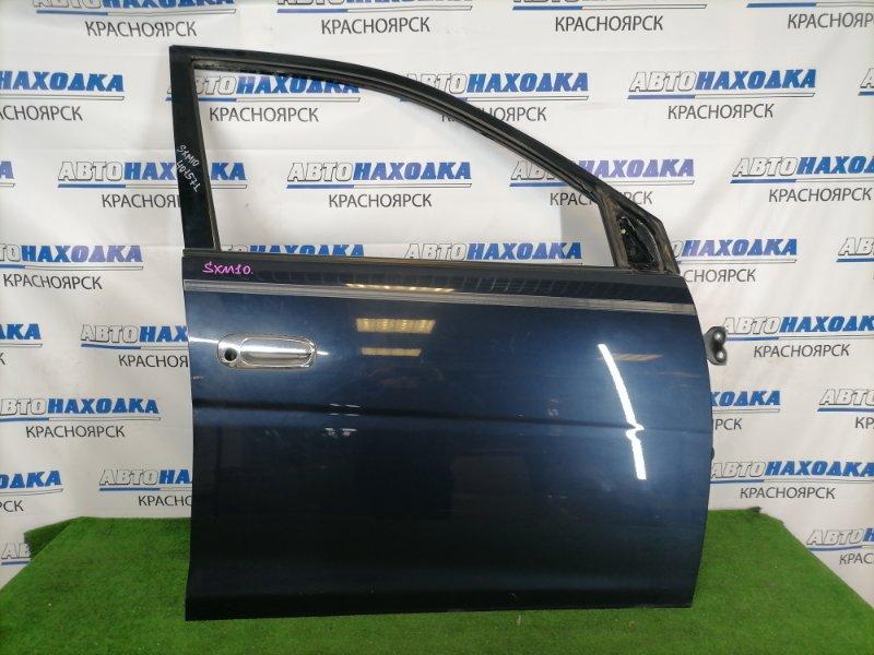 Дверь Toyota Gaia SXM10G 3S-FE 1998 передняя правая Передняя правая, синяя (8L1), без обшивки и