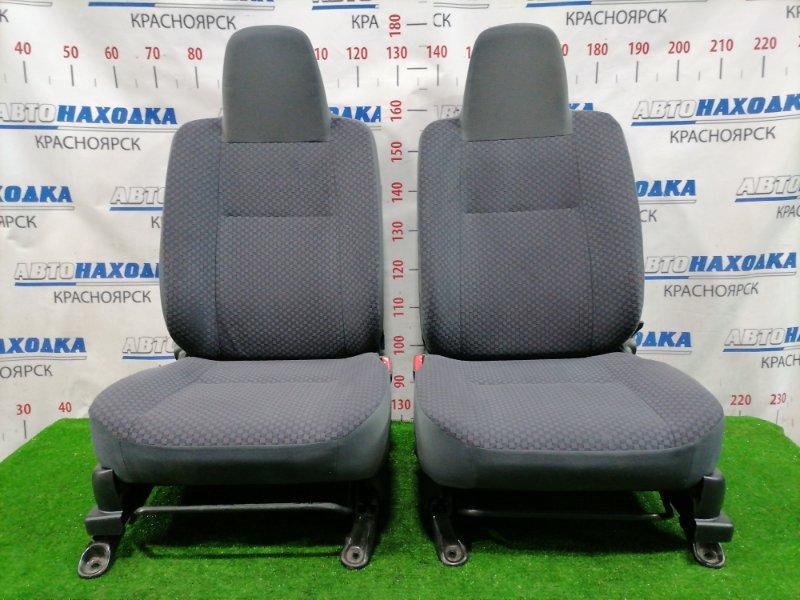 Сиденья Daihatsu Mira L275V KF 2007 передняя Передние, пара, серые, ткань, код салона FM11. Оба