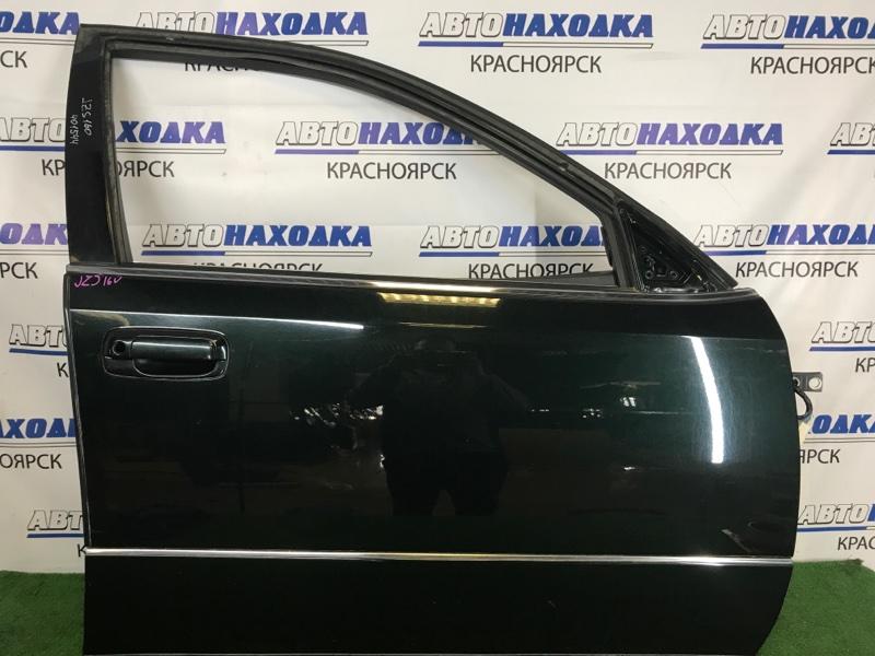 Дверь Toyota Aristo JZS160 2JZ-GE 2000 передняя правая В целом ХТС, передняя правая, темно-зеленая (6S6),