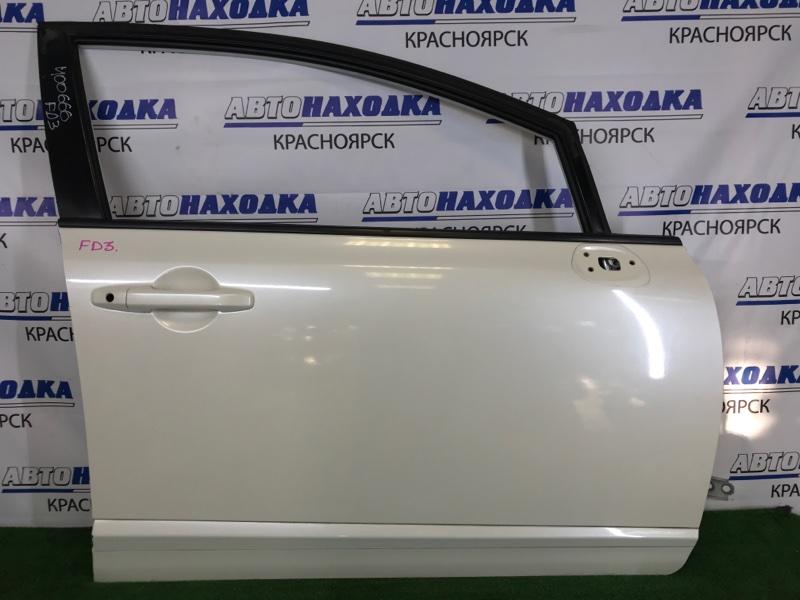 Дверь Honda Civic FD3 LDA 2008 передняя правая Передняя правая, белый перламутр (NH624P), с обшивкой