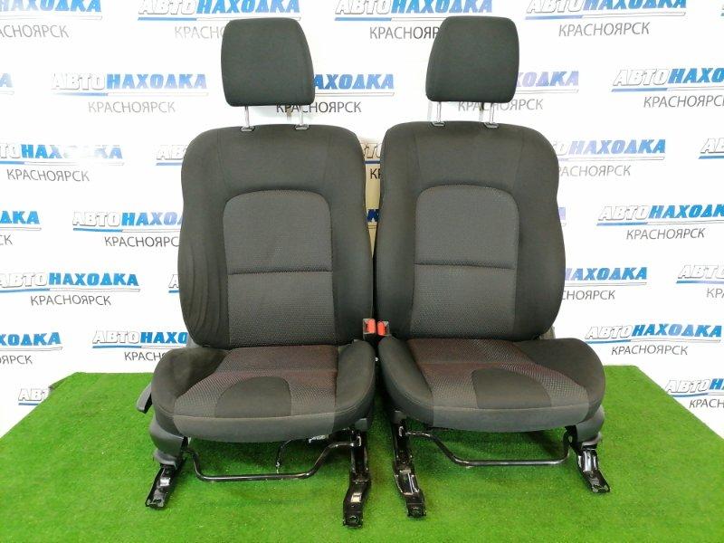 Сиденья Mazda Axela BKEP LF-VE 2006 передняя Передние, пара, чёрные, 2-х компонентная ткань, код