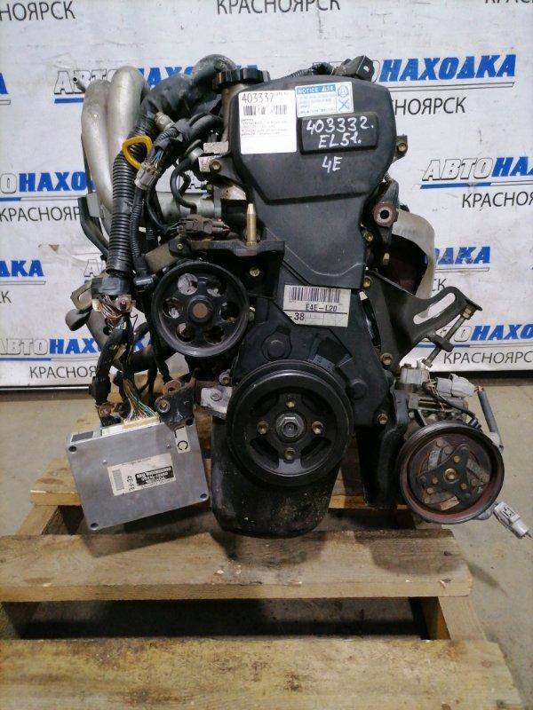 Двигатель Toyota Corsa EL51 4E-FE 1997 2745042 № 2745042, пробег 28 т.км. Есть видео работы ДВС. С