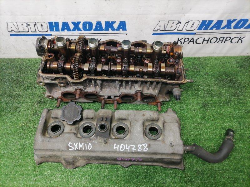 Головка блока цилиндров Toyota Gaia SXM10G 3S-FE 1998 в сборе, с аукционного авто, пробег 104 т.км.