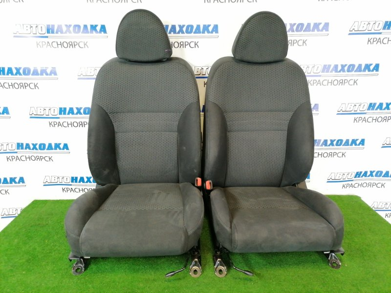 Сиденья Nissan Primera QP12 QG18DE 2002 передняя передние, пара, черные, с 2-х компонентной тканью,